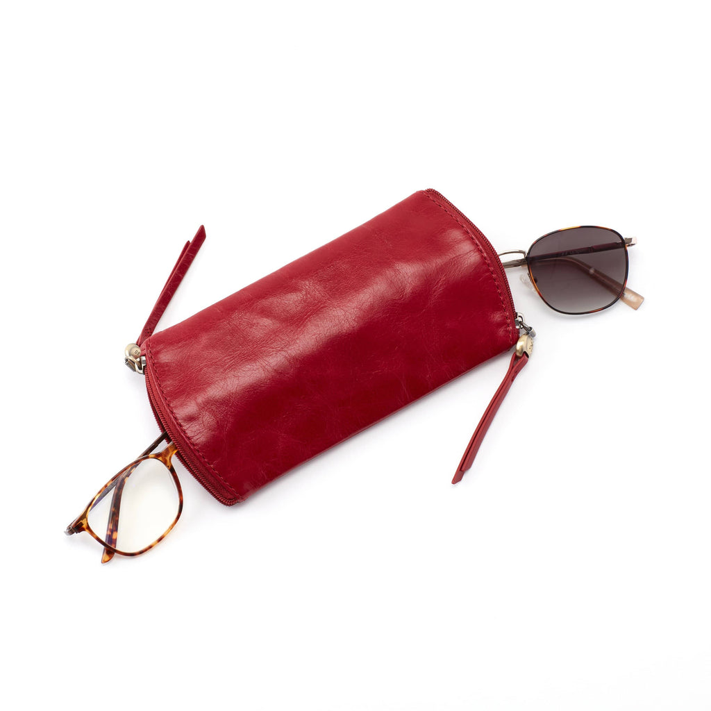 Hobo VI-32435 Spark Garnet Leather Glasses Case | Simons Shoes