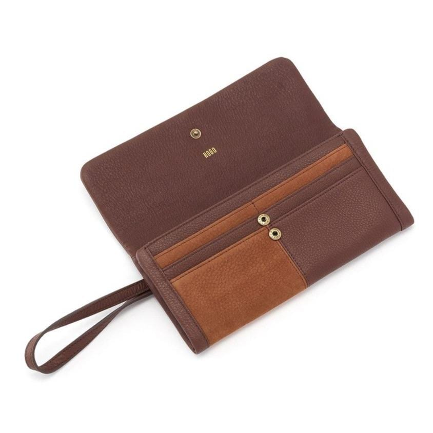 Hobo NU-81009 Wonder Tobacco Leather Wristlet Wallet | Simons Shoes