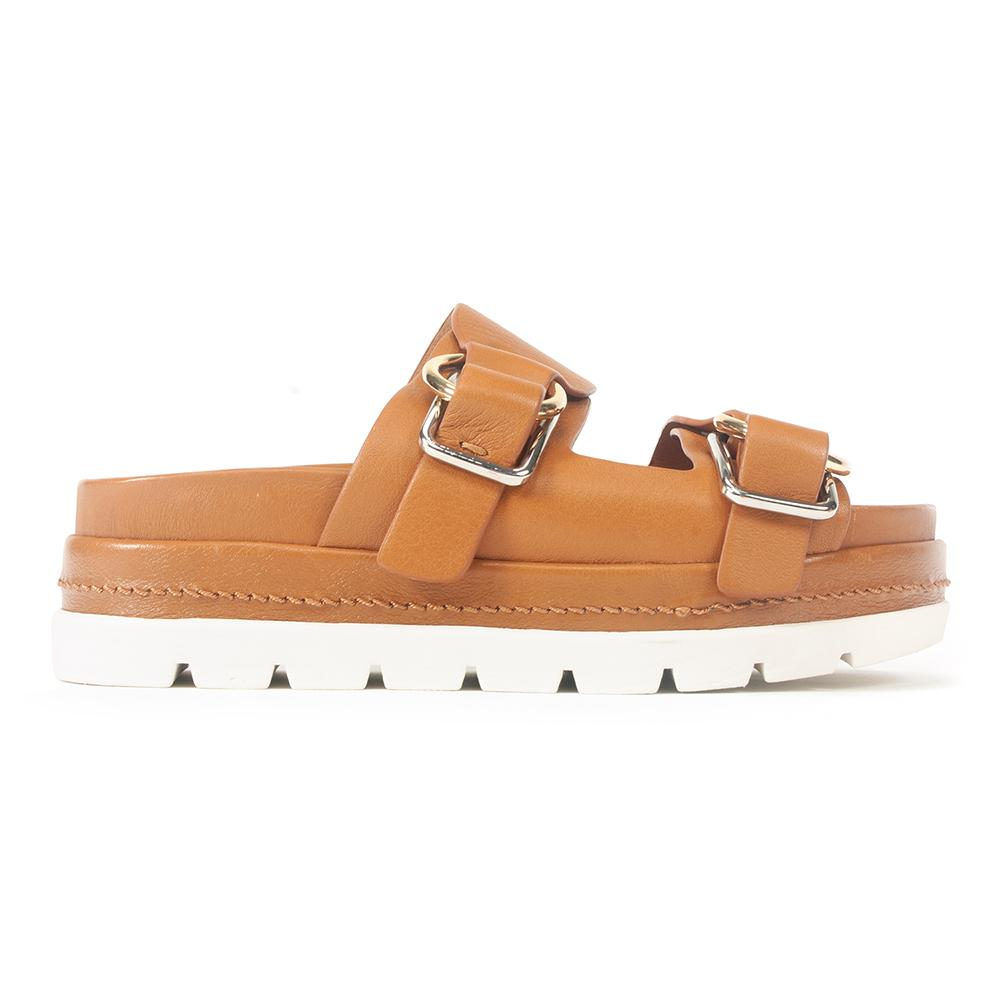 J/Slides Baha Womens Buckle Leather Slide Sandal | Simons Shoes