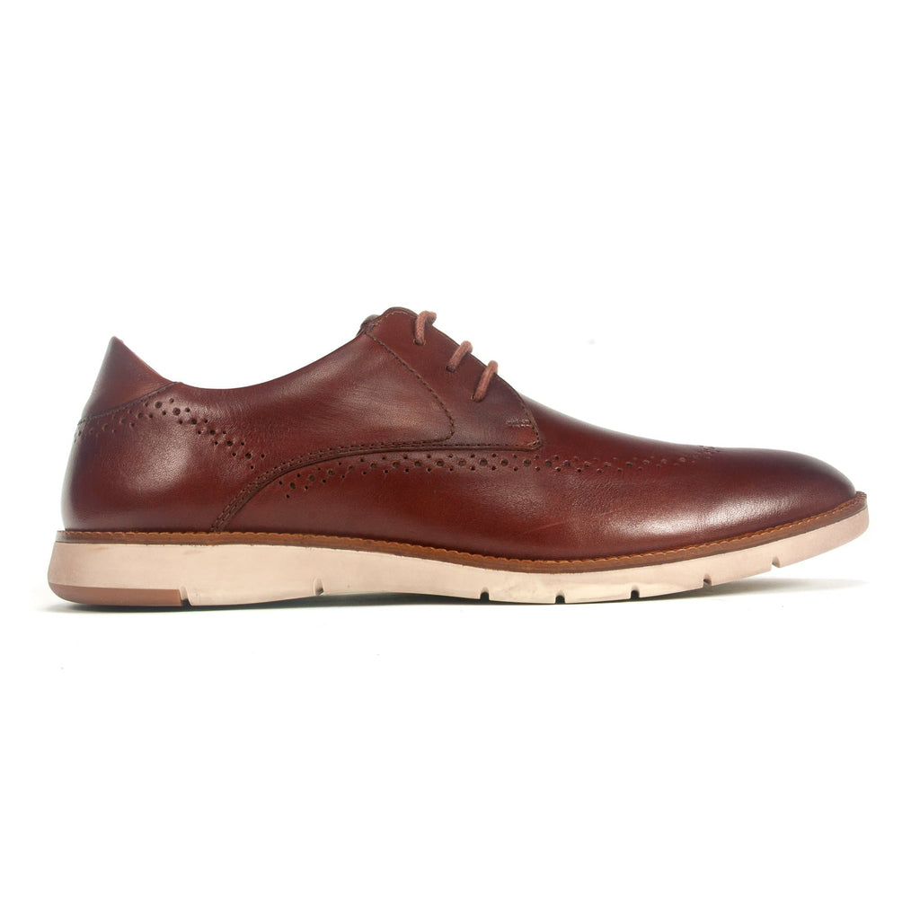 Josef Seibel Tyler33 Mens Laser Cut Leather Sneaker Cognac | Simons Shoes