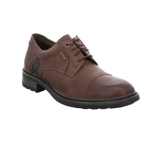 Josef Seibel Men's Oscar 55 Waterproof Leather Oxford Lace Up Shoe