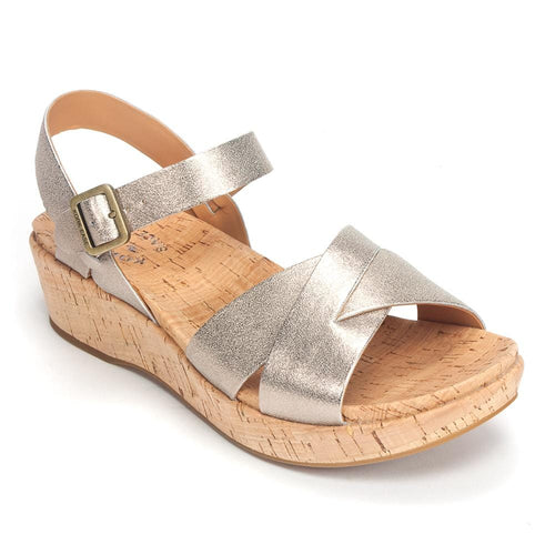 Kork-Ease Myrna 2.0 | Women's Leather Platform Wedge Sandal | Simons Shoes