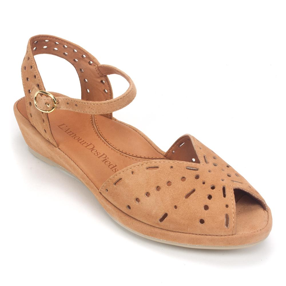 L'Amour Shoe - Women's Brenn Suede Mary Jane Open-Toe Sandal | Simons