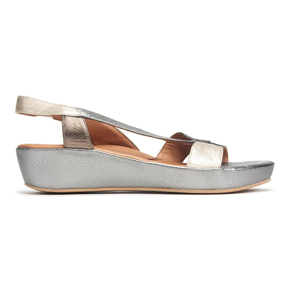 L'Amour Des Pieds Sandal | Crotono Low Wedge Leather Platform | Simons