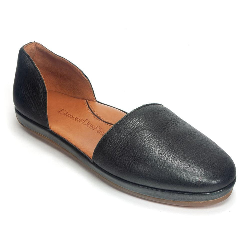 L'Amour Des Pieds Yemina Leather D'Orsay Flat Shoe