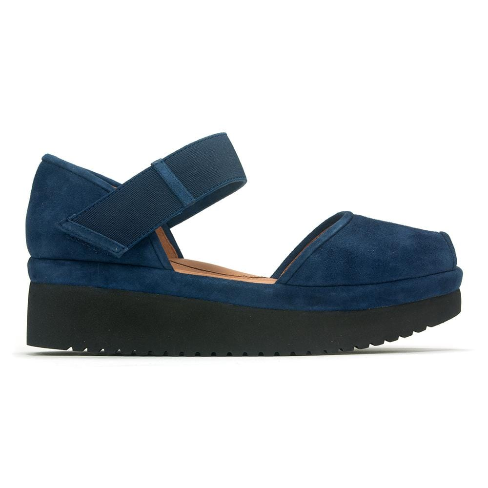 L'Amour Des Pieds Women's Amadour Suede Wedge Open Toe Sandal Shoe