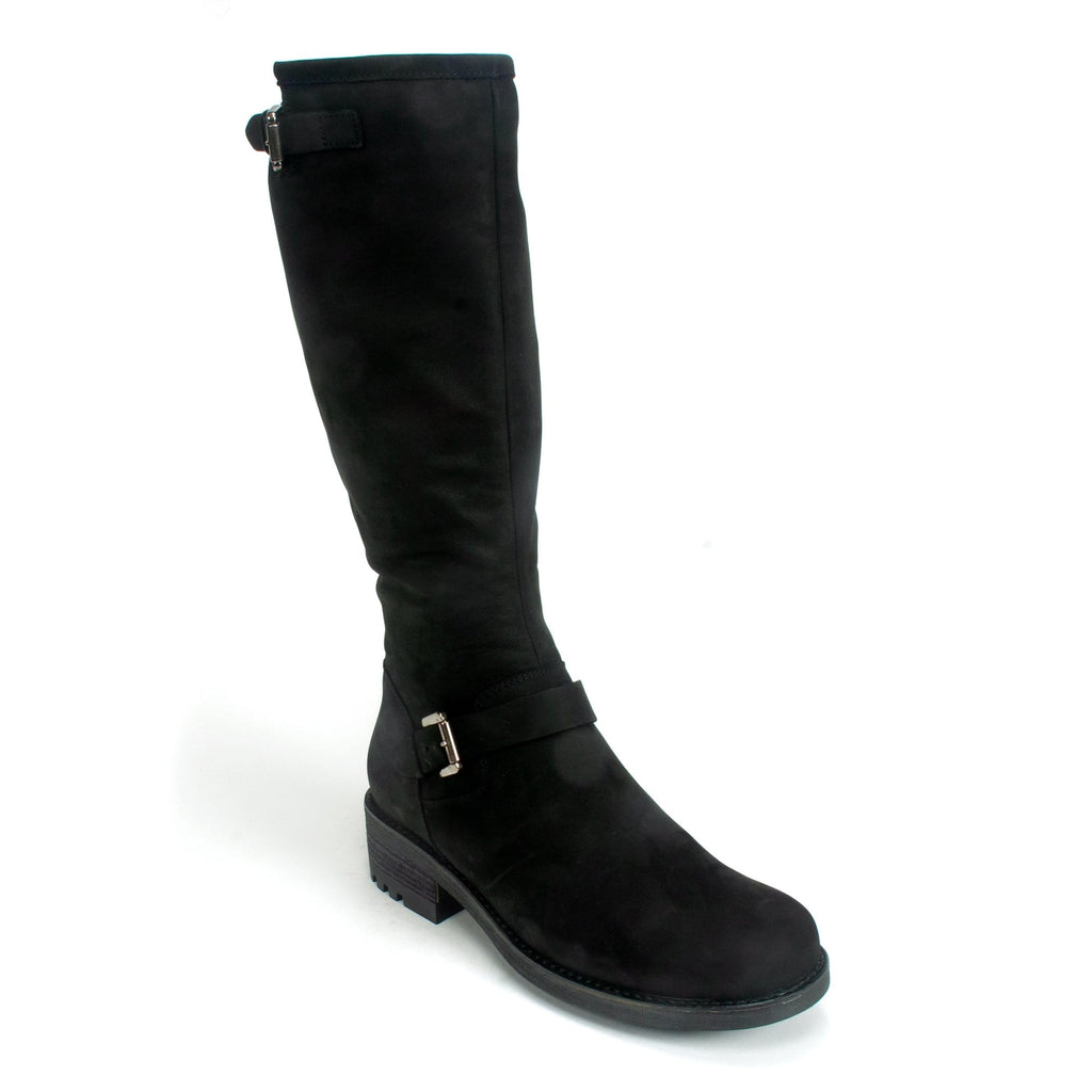 La Canadienne Caleb Women's Waterproof Leather Boot Stone Black Nubuck | Simons Shoes