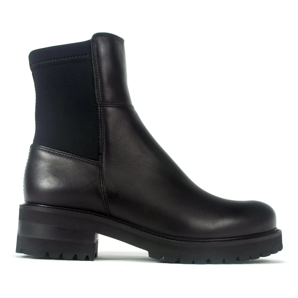La Canadienne Callista Womens Leather Waterproof Boot Black Leather | Simons Shoes