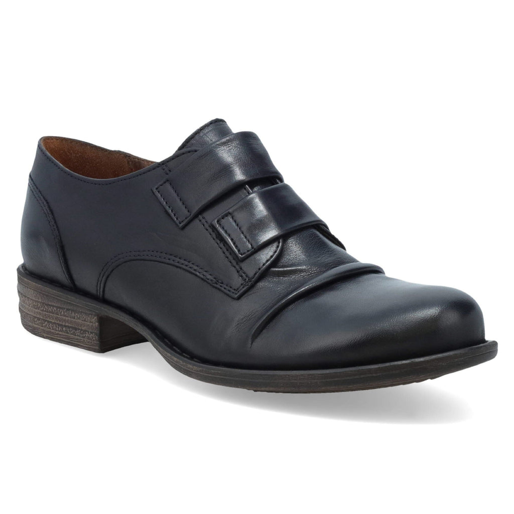 Miz Mooz Liam Womens Banded Zip Leather Oxford Black | Simons Shoes
