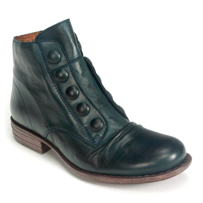 Miz Mooz Louise Women's Leather Vintage Boot Ocean | Simons Shoes