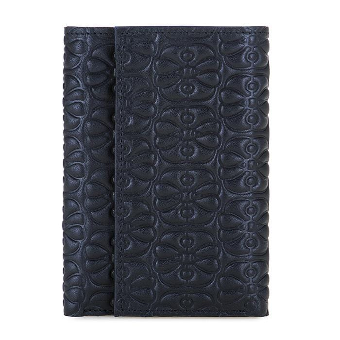 MyWalit 1442 Elefante Trifold Women's Black Leather Wallet | Simons Shoes