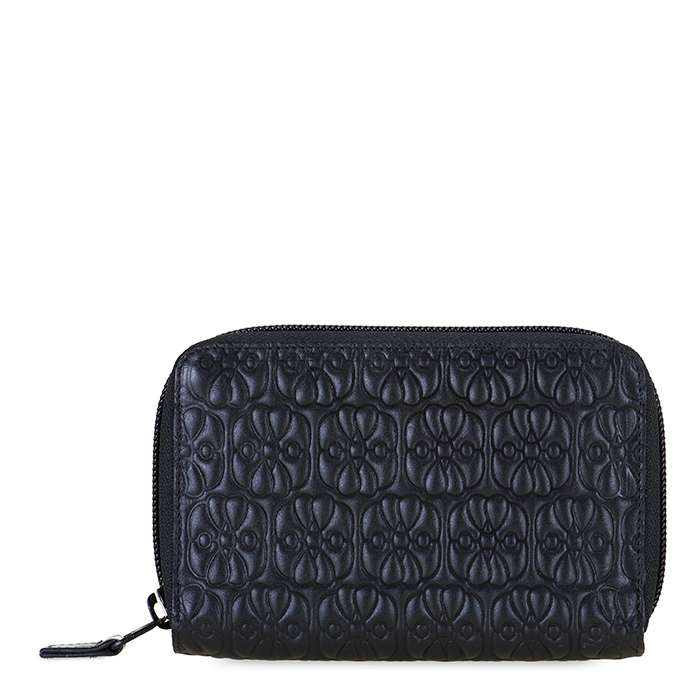 MyWalit 1443 Elefante Zip Around Black Pace Leather Wallet | Simons Shoes