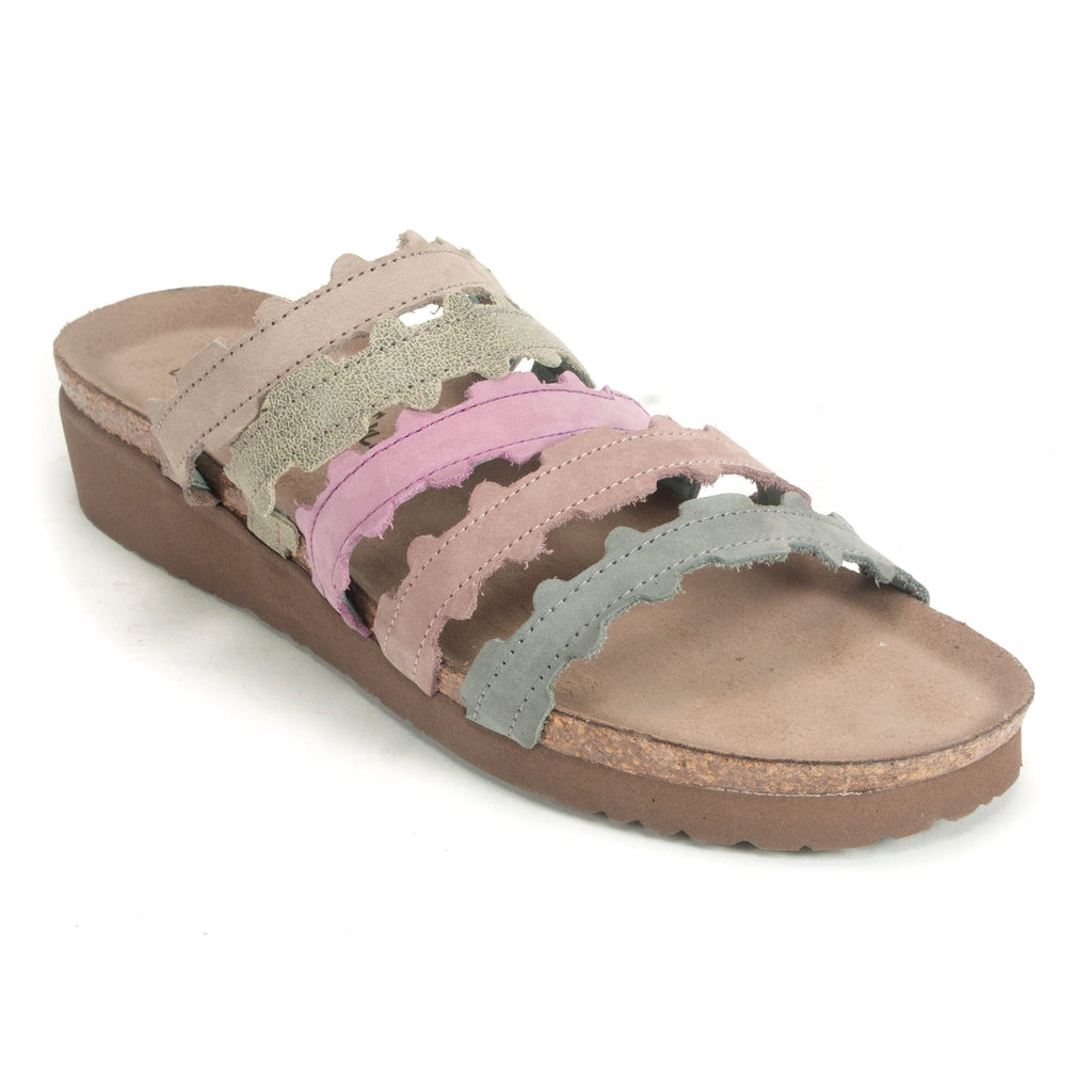 Naot Adina Women's Multicolor Leather Slide Sandal WBD Stone Mauve Multi | Simons Shoes
