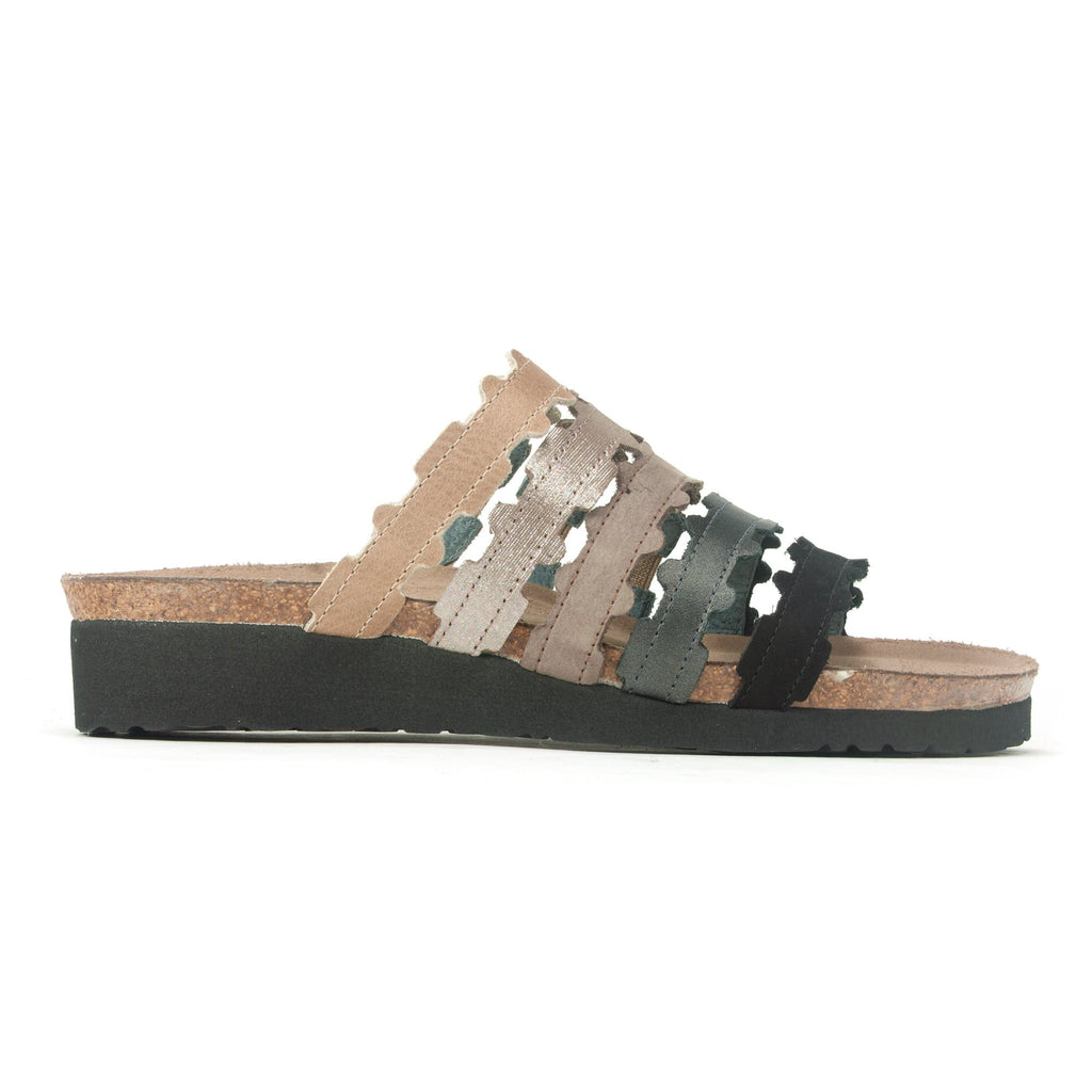 Naot Adina Women's Multicolor Leather Slide Sandal WCA Khaki Black Multi | Simons Shoes