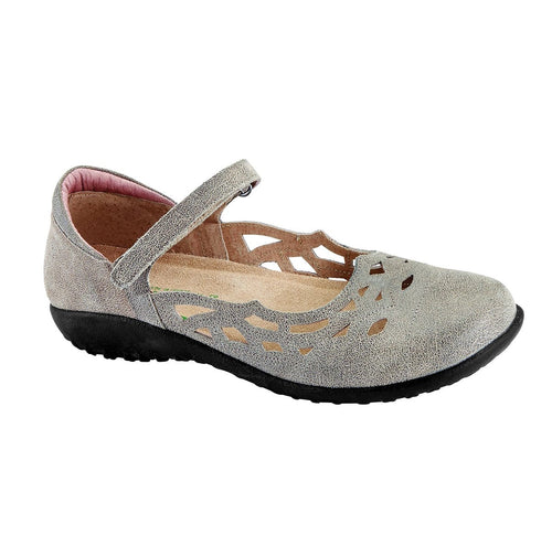 Naot Agathis Women's Leather Cut Out Flat Smoke Grey | Simons Shoes