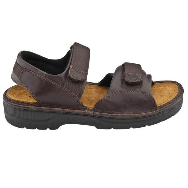 Naot Andes Men's Leather Velcro Cork Footbed Sandal Shoe