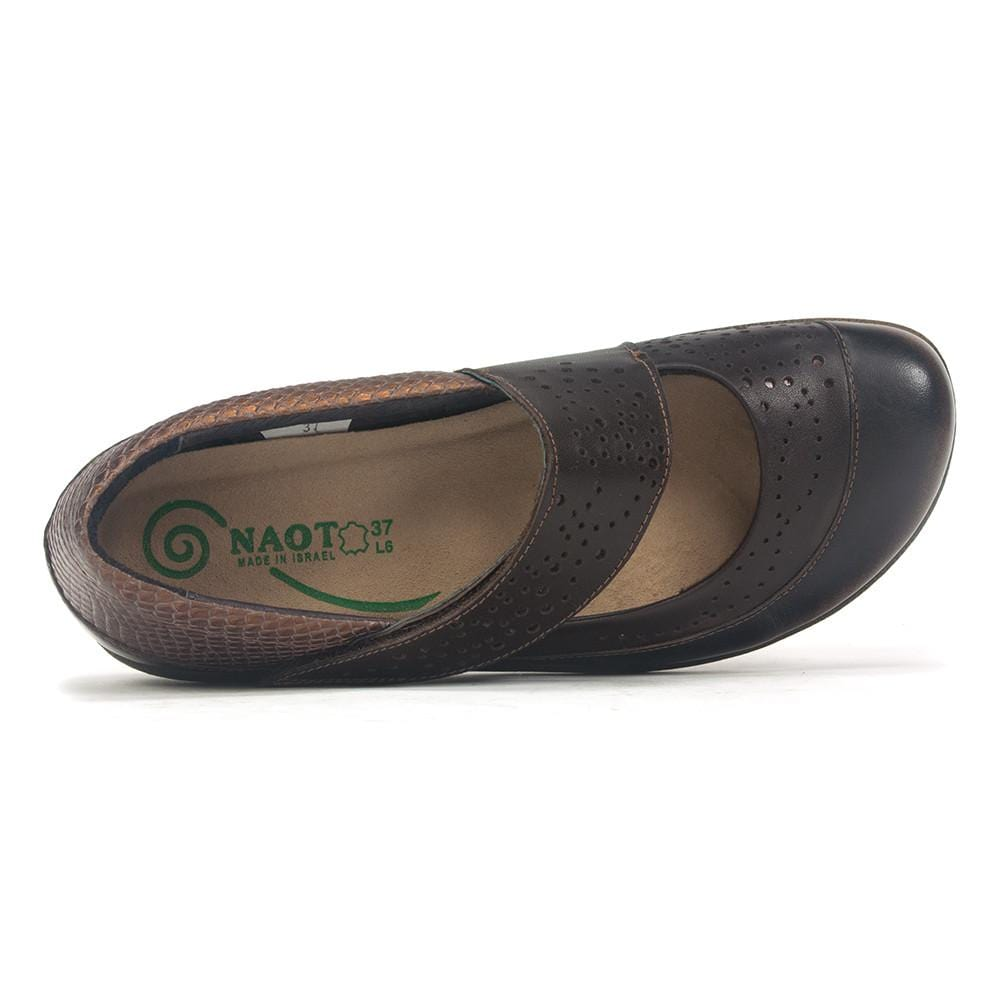 Naot Women's Aroha Removable Footbed Leather Mary Jane Flat Shoes