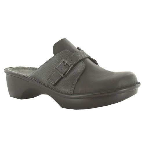 Naot Women's Avignon Leather Slip On Buckled Clog Shoe