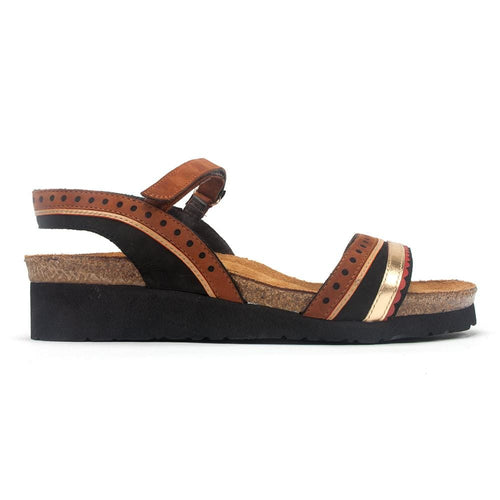 Naot Women's Beverly Multi Toned Open Toe Leather Upper Sandal Shoe