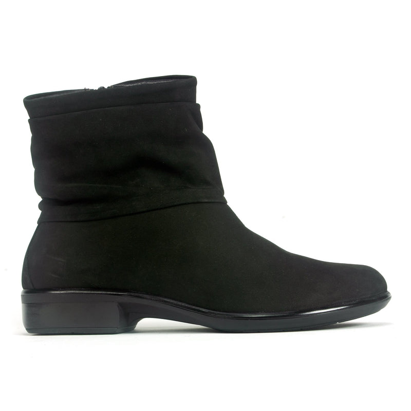 Naot Brisote Women's Nubuck Leather Zip Up Slack Bootie Black | Simons Shoes