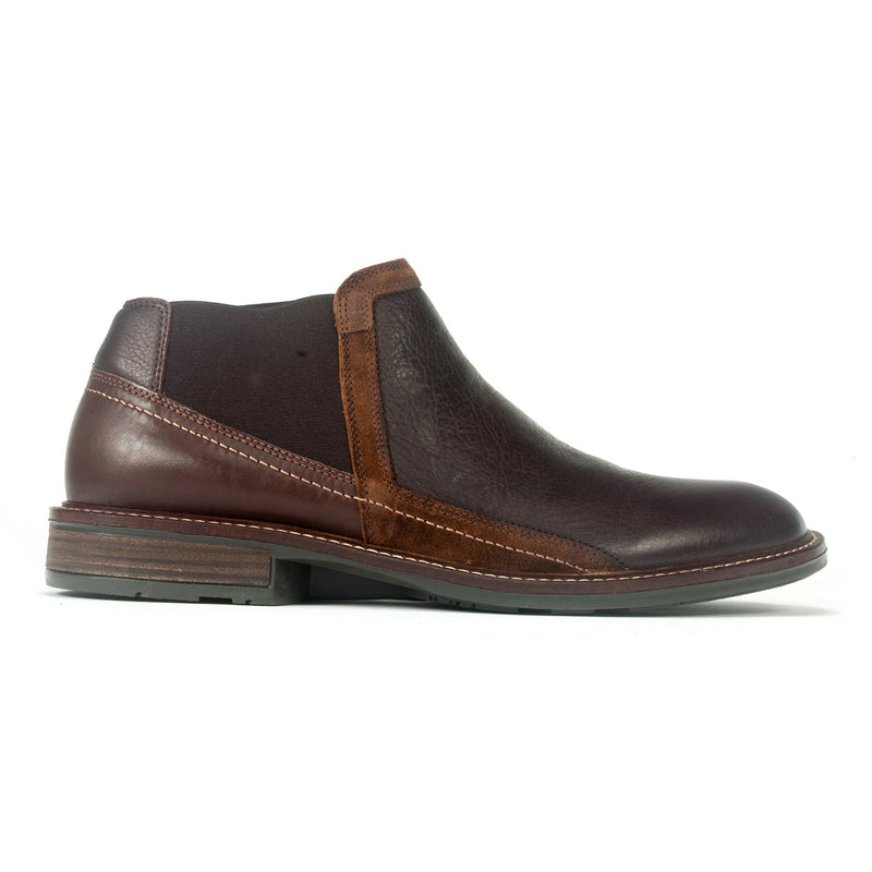 Naot Business Men's Classic Leather Slip On Ankle Boot SJX Soft Brown Toffee | Simons Shoes