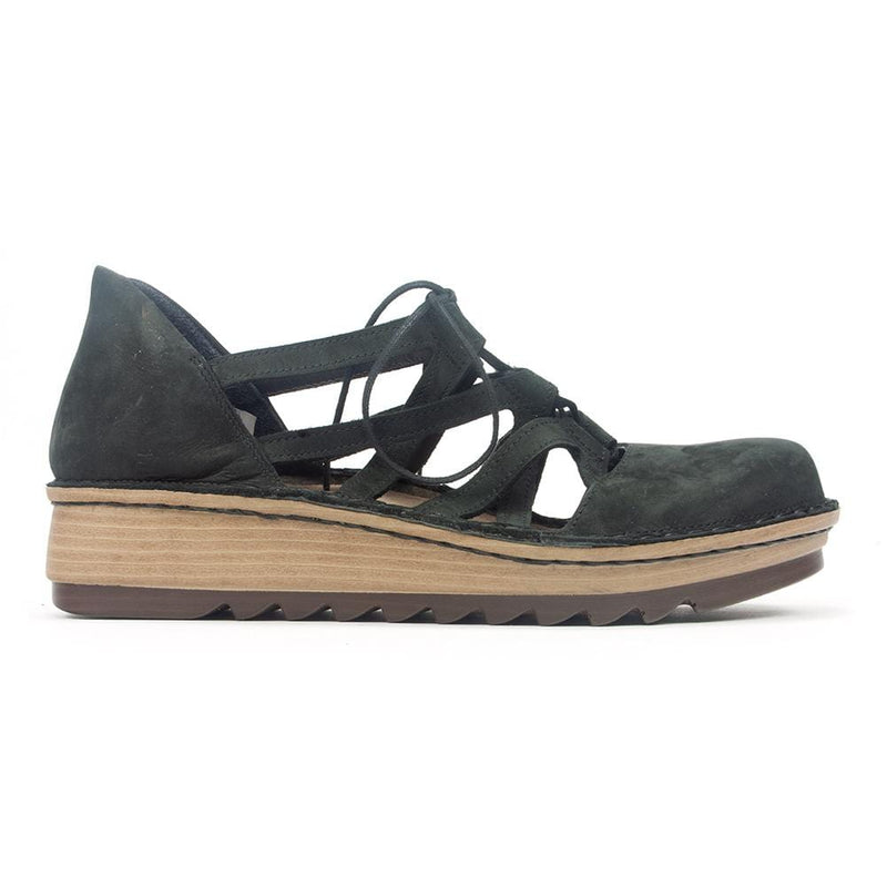 Naot Calathea | Women's Leather Lace Crisscross Low Wedge | Simons