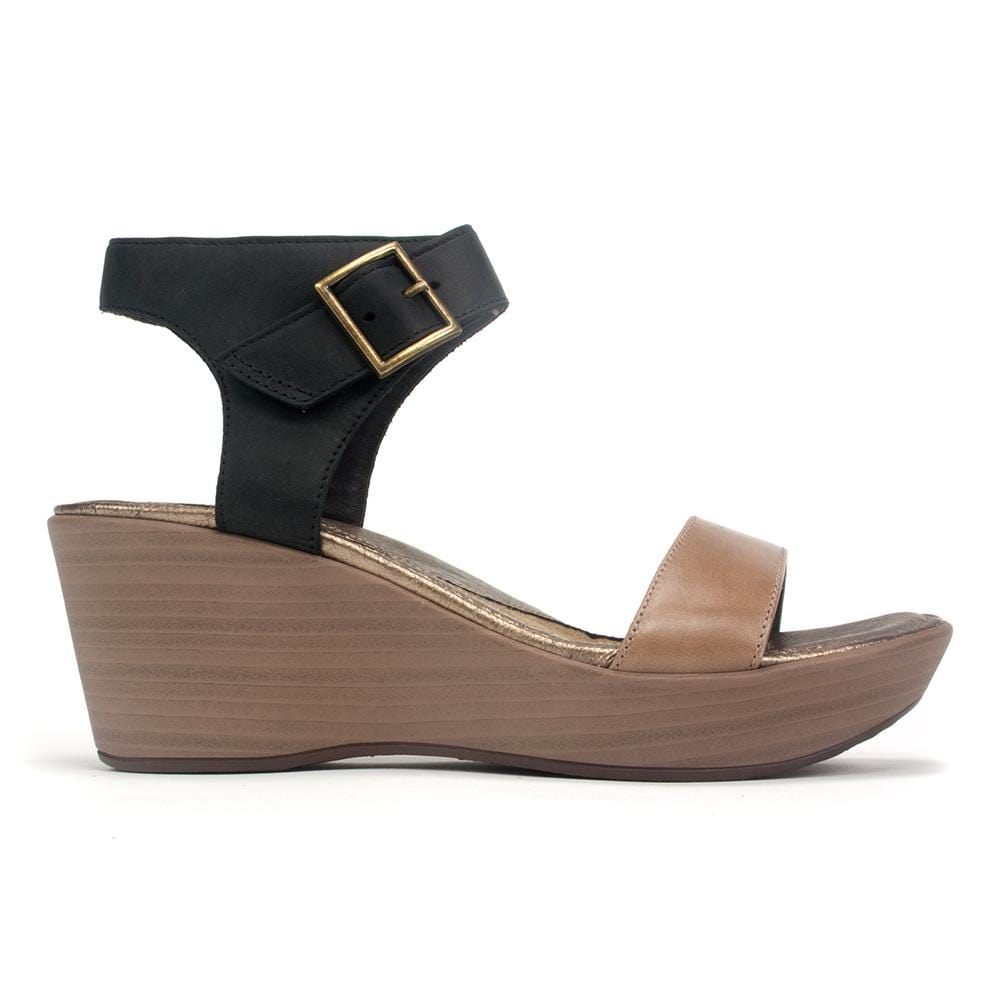 Naot Caprice Women's Leather Buckled Ankle Strap Wedge Sandal Shoe