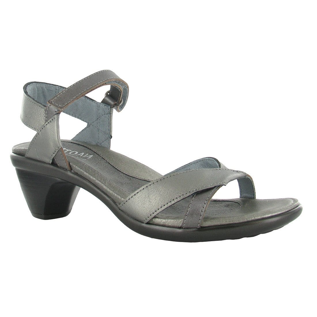 Naot Cheer Women's Contrast Leather Crisscross Ankle Strap Sandal Shoe