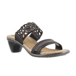 Naot Contempo Women's Studded Cutout Leather Slip On Heel Sandal Shoe