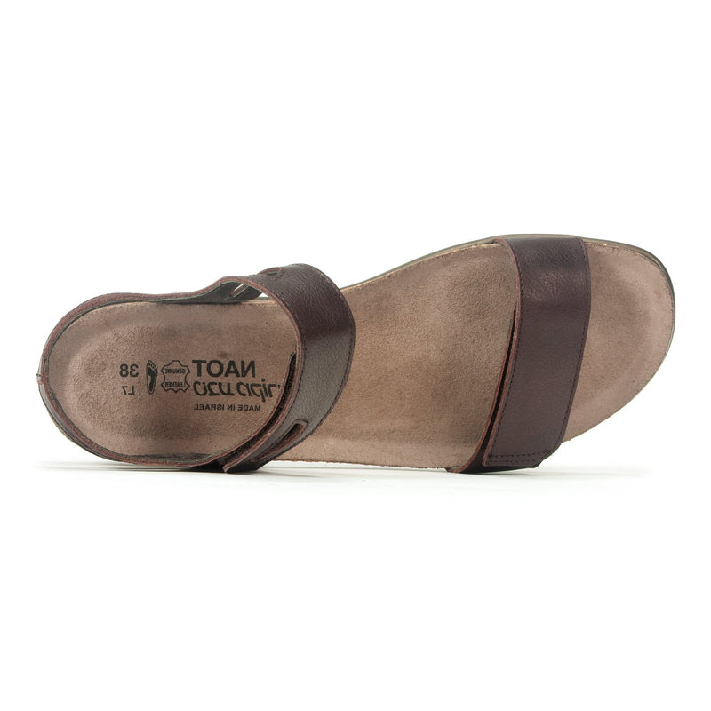 Naot Courtney Women's Casual Leather Walking Sandal EC8 Soft Brown | Simons Shoes