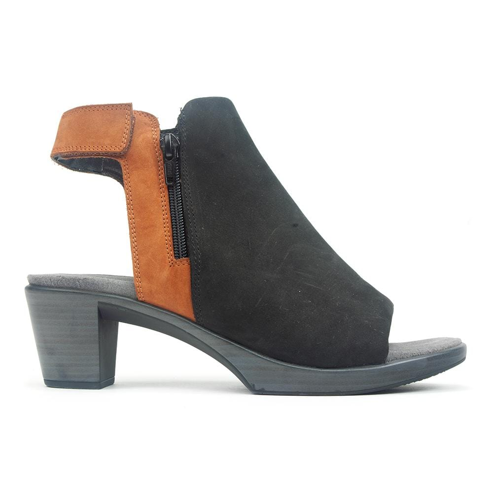 Naot Favorite | Women's Contrast Leather Open Toe Heel Bootie | Simons