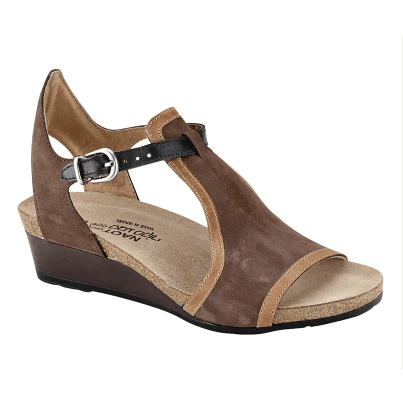 Naot Fiona Women's Leather Gladiator Wedge Sandal SER Coffee Brown | Simons Shoes