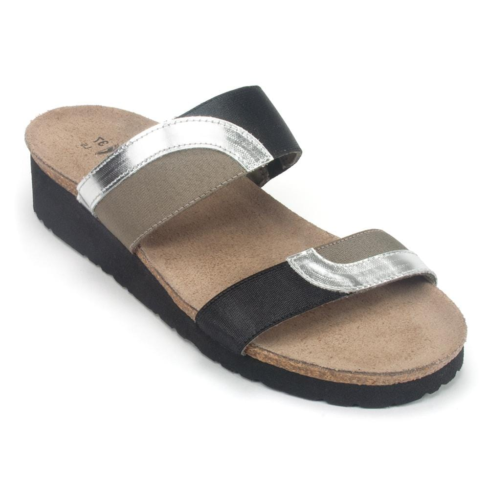 Naot Women's Frankie Elasticized Double Strap Slide Sandal Shoe