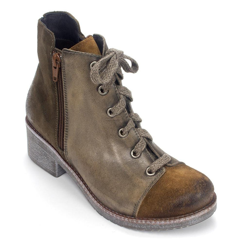 Naot Leather and Suede Lace-up Ankle Boots Groovy Midnight Oil EU 37 US 6