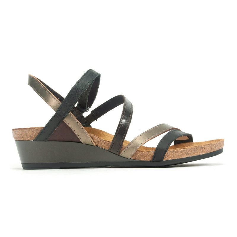 Naot's Hero Women's Strappy Leather Wedge Sandal NYE Black Multi | Simons Shoes