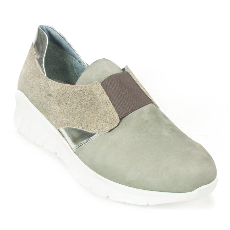 Naot Intrepid Sneaker Women's Leather Slip On Grey Nubuck | Simons Shoes