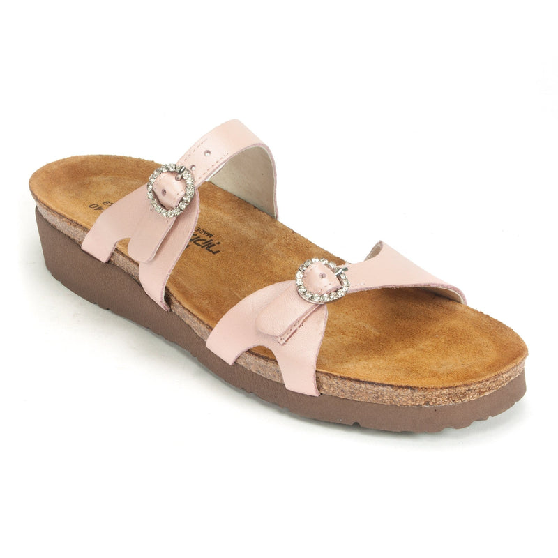 Naot's Kate Women's Jeweled Buckle Leather Slide Sandal 377 Rose | Simons Shoes