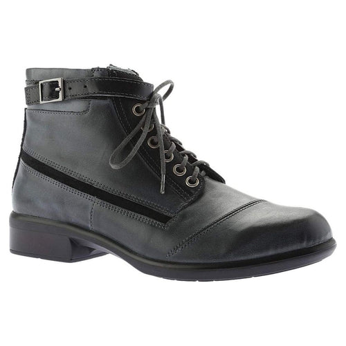 Naot Kona | Women's Leather Buckle Ankle Combat Granny Bootie | Simons