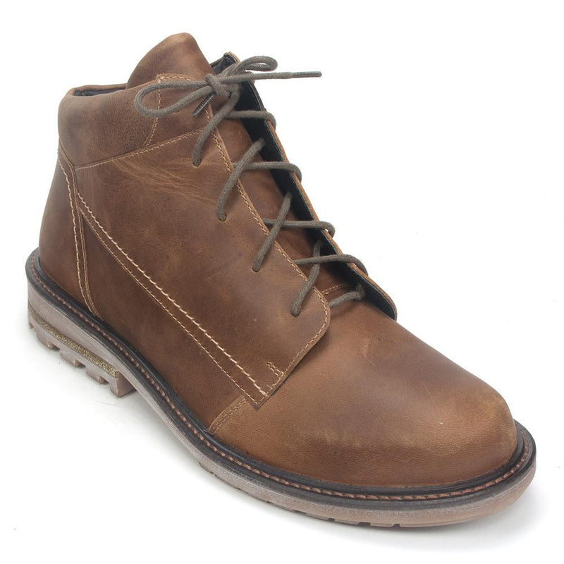 Naot Men's Limba Removable Cork Footbed Leather Lace-up Boot Shoe