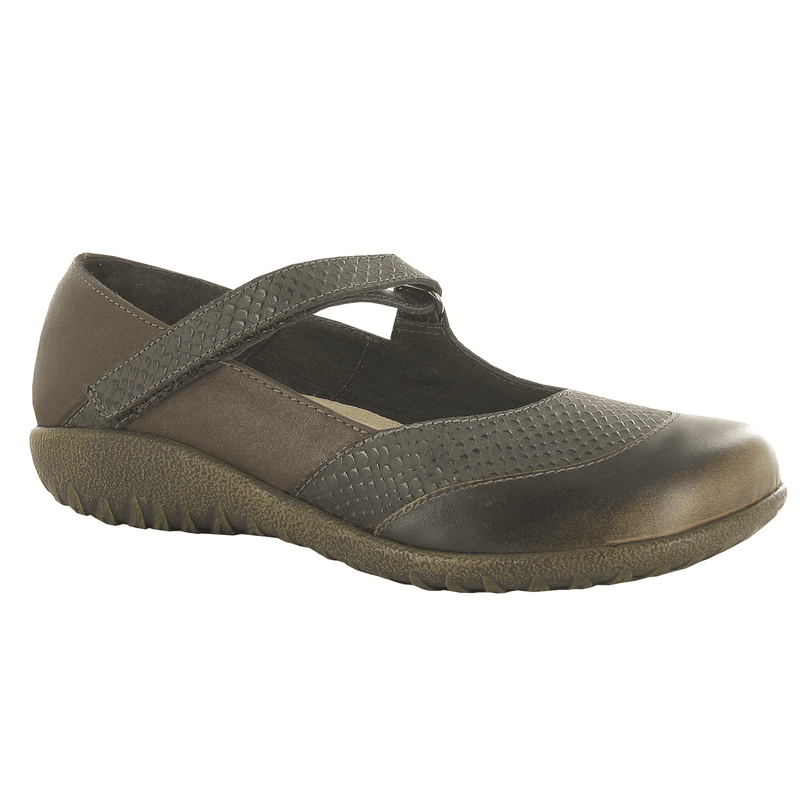 Naot Women's Luga Padded Loop Closure Cork Footbed Leather Mary Jane Shoe
