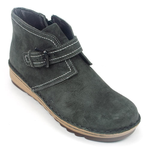 Naot Luisia | Women's Leather Grungy Ankle Lug Wedge Bootie | Simons