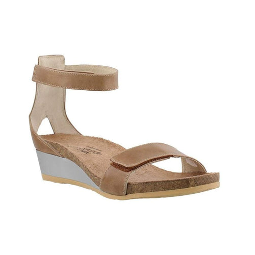 Naot Mermaid Women's Leather Adjustable Ankle Strap Sandal Wedge Shoe