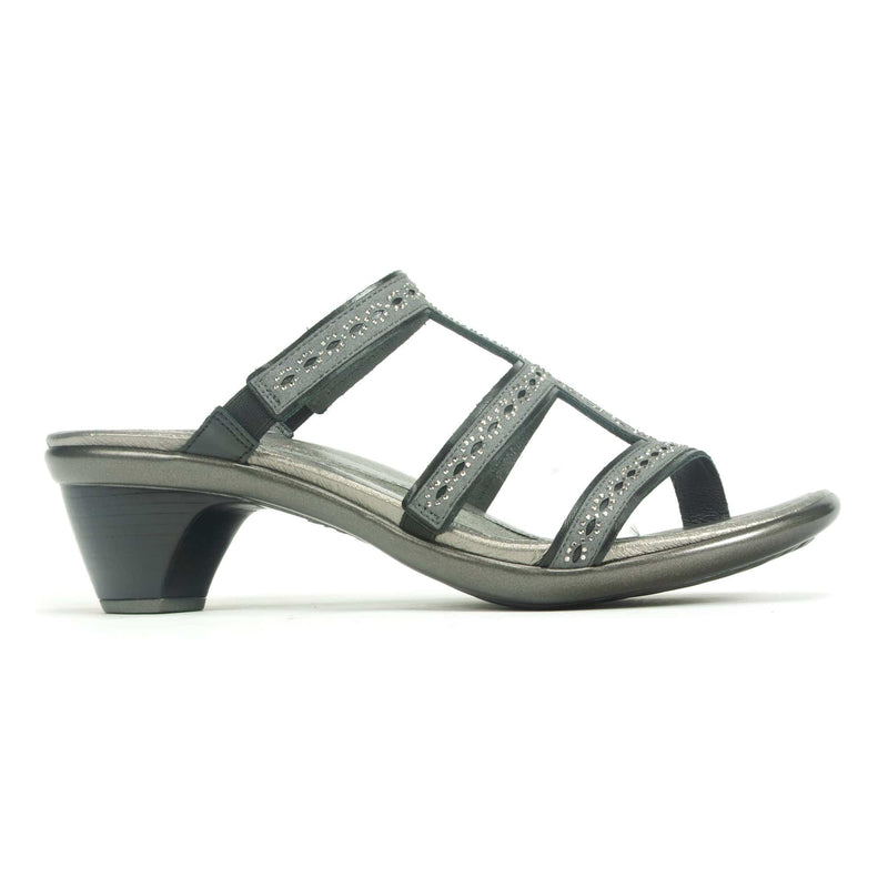 Naot Novel Women's Stone Accent Dressy Slide Sandal BTG Dark Gray | Simons Shoes