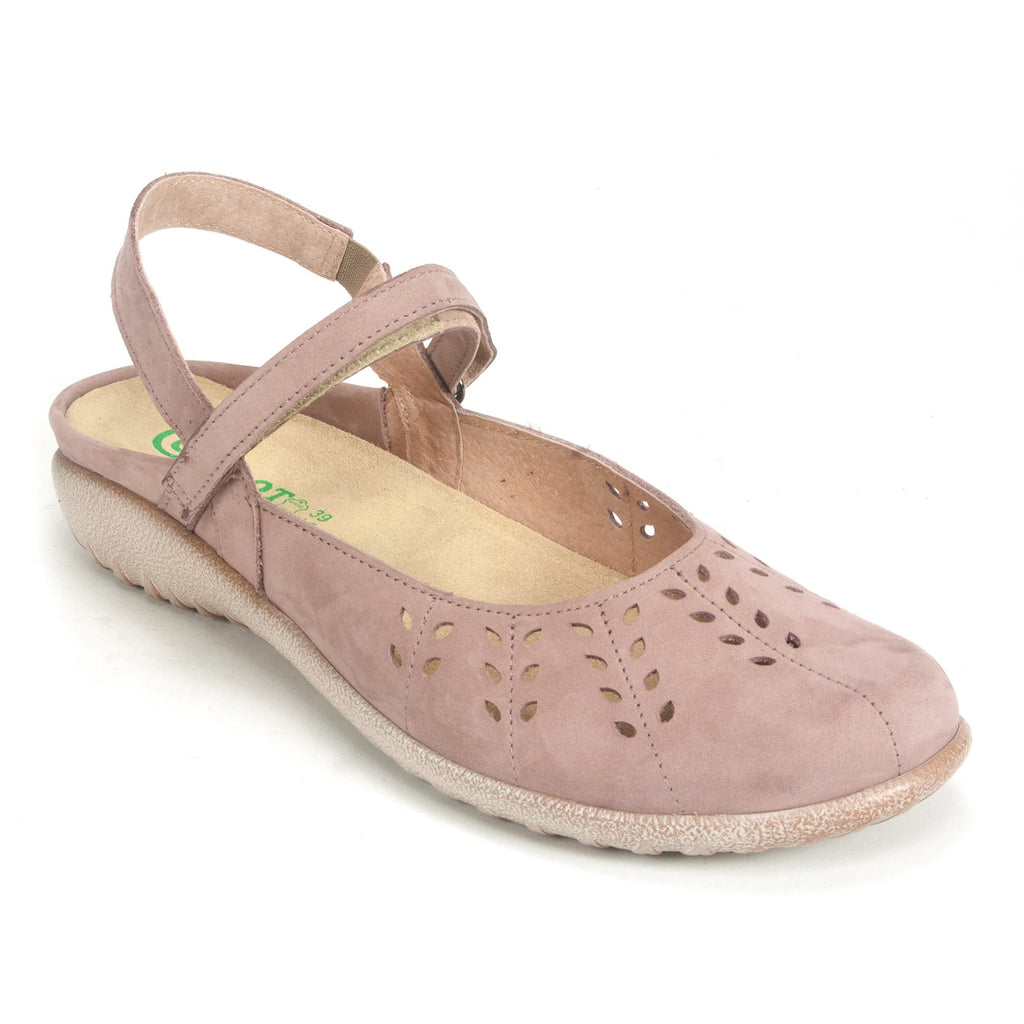 Naot Rari Womens Cutout Leather Ankle Strap Flat C56 Mauve | Simons Shoes
