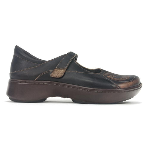 Naot Women's Sea Leather Swirl Design Mary Jane Shoe