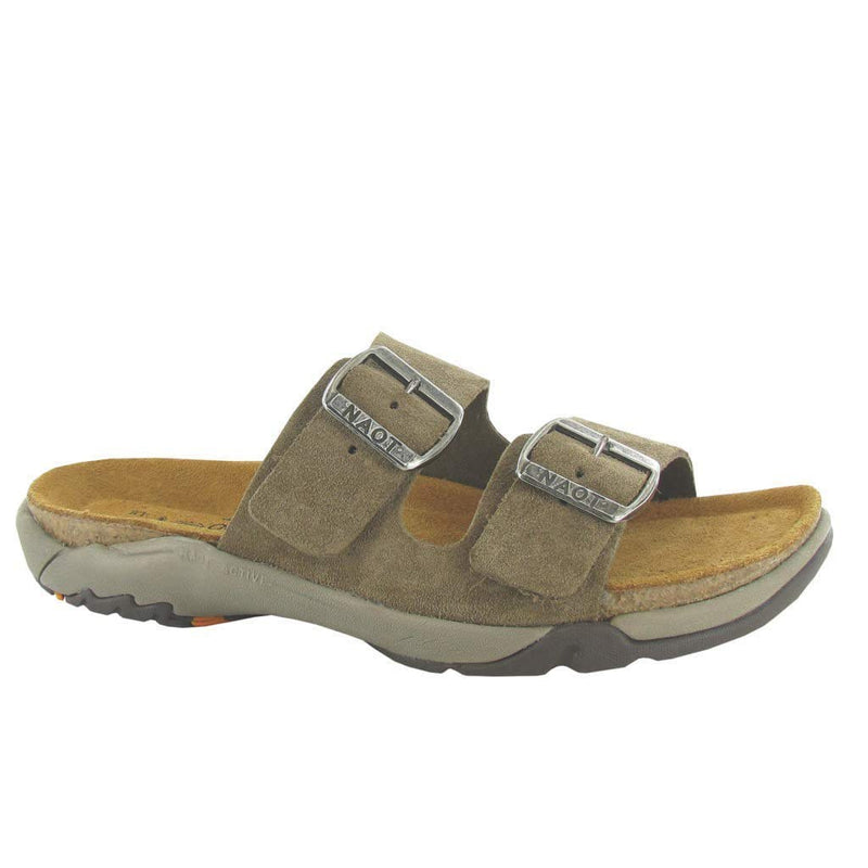 Naot Shai Women's Leather Adjustable Two Strap Slide 382 Taupe | Simons Shoes