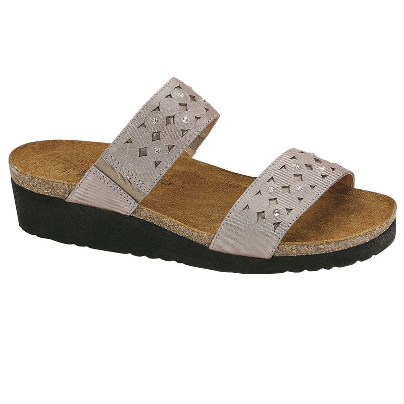 Naot Susan Women's Two-Strap Suede Slide Sandal Shoe