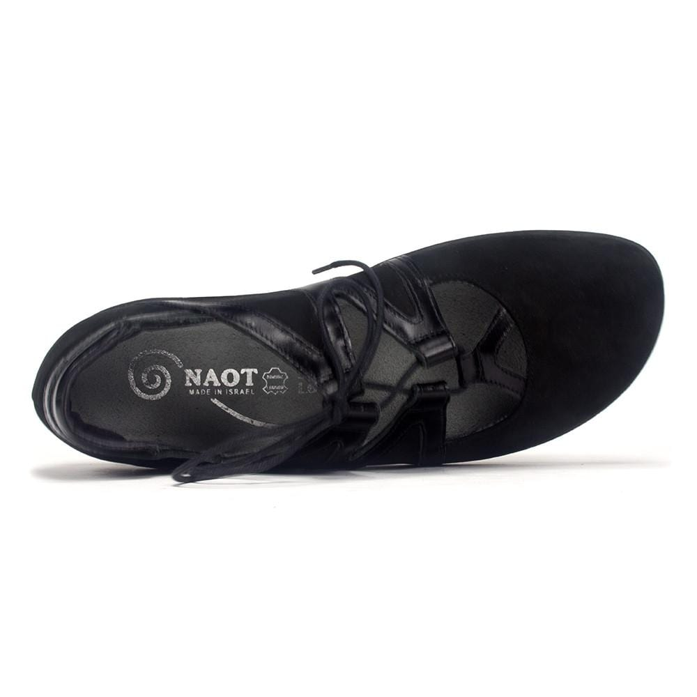 Naot Timu | Women's Padded Leather Trimmed Suede Lace Up Flat | Simons