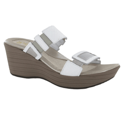 Naot Treasure Women's Contrasting Patent Leather Wedge Sandal Shoe