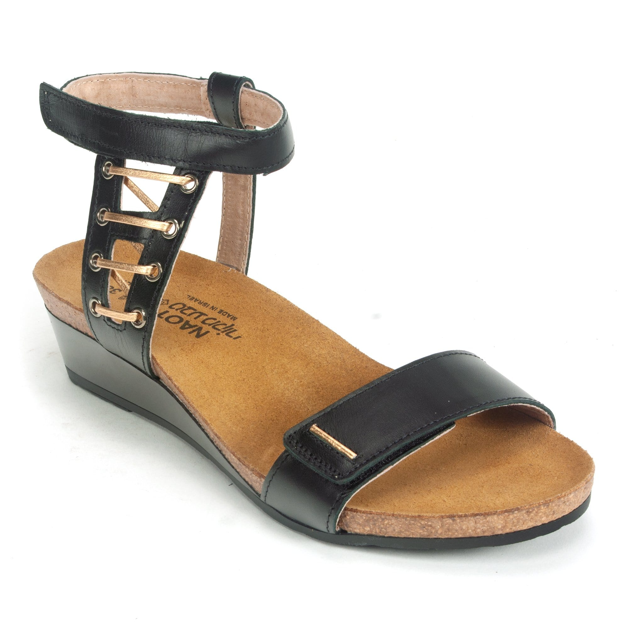 7924ee357a3 Naot Wizard Women s Leather Metallic Accented Ankle Strap Sandal Shoe –  Simons Shoes